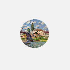 Bridge at Villene - Impressionism land Mini Button