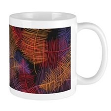 Coloured Feathers Mug