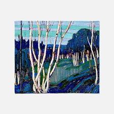Tom Thomson - Silver Birches Throw Blanket