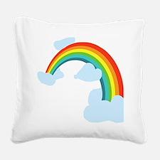 Cute Rainbow Square Canvas Pillow