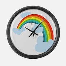 Unique Rainbow Large Wall Clock