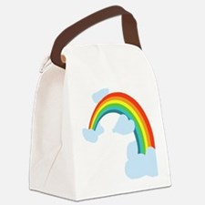 Cute Rainbow Canvas Lunch Bag