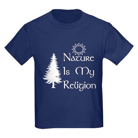Nature Is My Religion Kids Dark T-Shirt