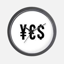 YES Money Luck Wall Clock