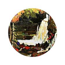 "Tom Thomson - Woodland Waterfall 3.5"" Button"
