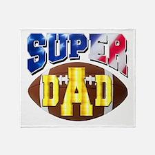 Super Dad USA 2 Throw Blanket