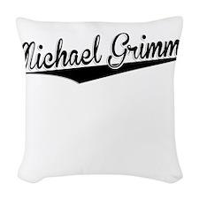Michael Grimm, Retro, Woven Throw Pillow