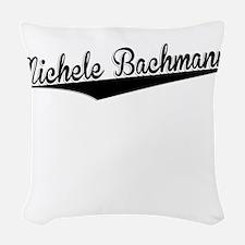 Michele Bachmann, Retro, Woven Throw Pillow