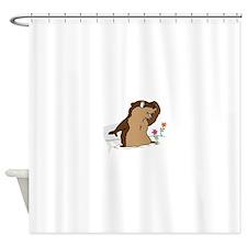 Groundhog Day Shadow Shower Curtain