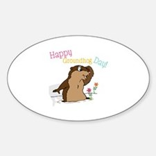 Happy Groundhog Day Decal