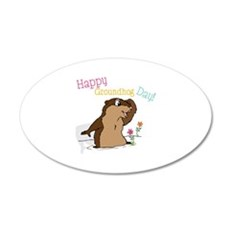 Happy Groundhog Day Wall Decal