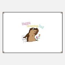 Happy Groundhog Day Banner