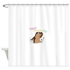 Happy Groundhog Day Shower Curtain