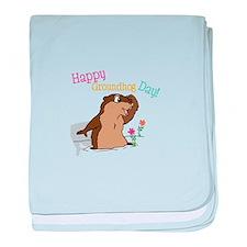 Happy Groundhog Day baby blanket