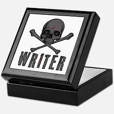 Writer-Skull-Splatter Keepsake Box