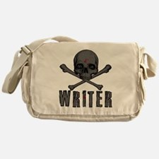 Writer-skull-splatter Messenger Bag