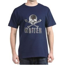 Writer-Skull-Splatter T-Shirt