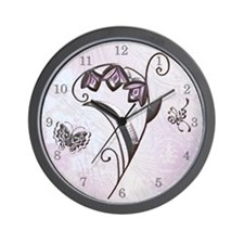 Harvest Moons Art Deco Flower Wall Clock