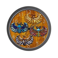 Harvest Moons Scarabs Wall Clock