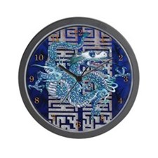 Harvest Moons Ice Dragon Wall Clock