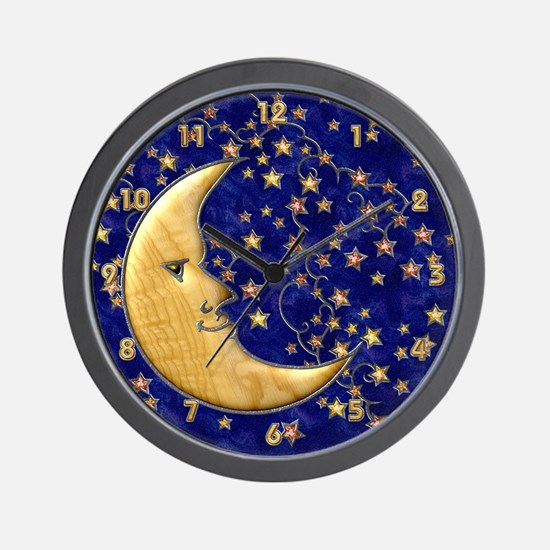 Harvest Moons Man in the Moon Wall Clock