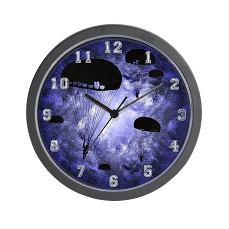 Harvest Moons Paratroopers Wall Clock