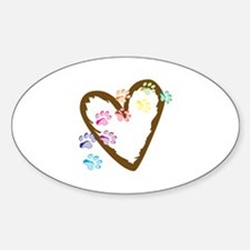 paw hearts Decal