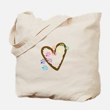 paw hearts Tote Bag