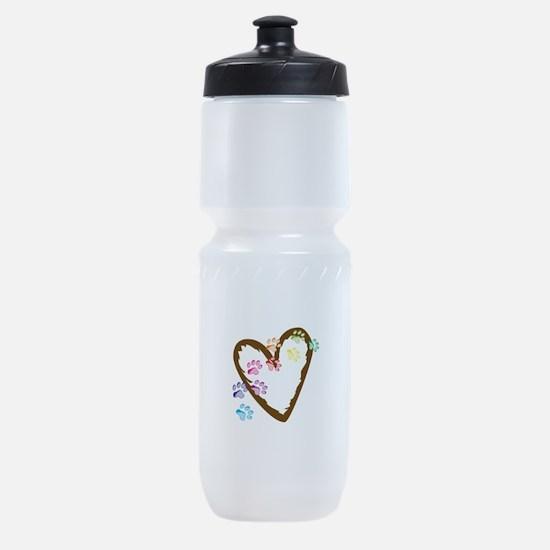 paw hearts Sports Bottle