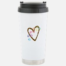paw hearts Travel Mug