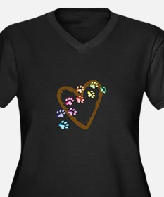paw hearts Plus Size T-Shirt