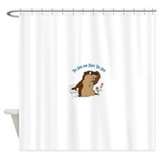 To See Or Not To See Shower Curtain