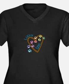 Lucky dog Plus Size T-Shirt
