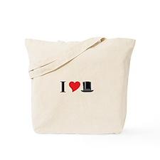 I Love Tophats Tote Bag