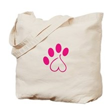 Dog Paw Tote Bag