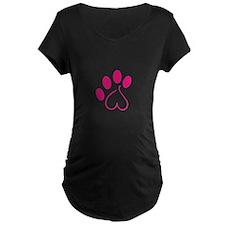 Dog Paw Maternity T-Shirt