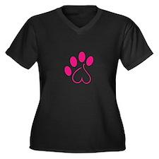 Dog Paw Plus Size T-Shirt