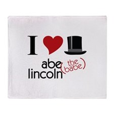 Abe (The Babe) Lincoln Throw Blanket