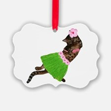 Hula Cat Ornament