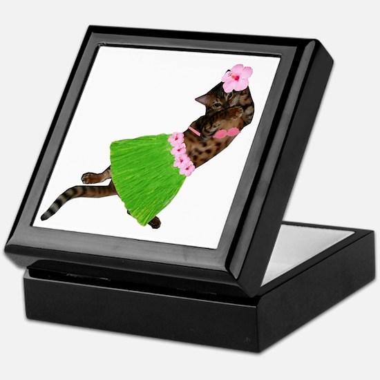 Hula Cat Keepsake Box