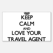 Keep Calm and Love your Travel Agent Decal