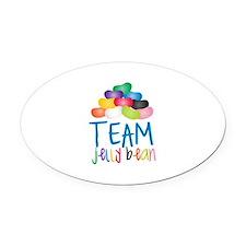 Team Jelly Bean Oval Car Magnet