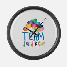 Team Jelly Bean Large Wall Clock