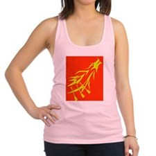 red dragon flying Racerback Tank Top
