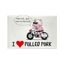 I Heart Pulled Pork Magnets
