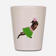 Hula Cat Shot Glass