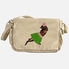 Hula Cat Messenger Bag