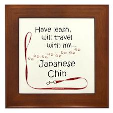 Japanese Chin Travel Leash Framed Tile
