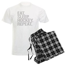 Eat Sleep Hockey Repeat Pajamas