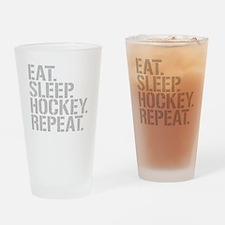 Eat Sleep Hockey Repeat Drinking Glass